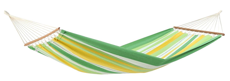 AMAZONAS Stabhä ngematte XL Brasilia Cappuccino handgefertigt in Brasilien 210 x 140 cm fü r 1-2 Personen bis 150 kg gestreift AZ-1065400