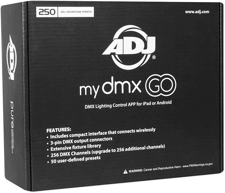 American DJ ADJ MYDMX GO Lighting Control App for iPad//Android Tablets+Fogger