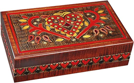 MilmaArtGift Handmade Wooden Chest Box w//Lock and Key Polish Linden Wood Jewelry Keepsake