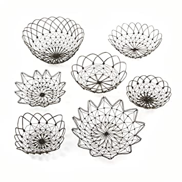 Delightful Twou0027s Company Wire Baskets Decorative Bowl Set, ...