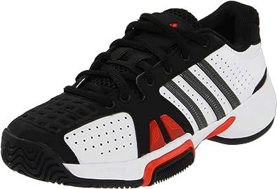online retailer 5cc92 31823 adidas Barricade Team 2 Tennis Shoe (Little KidBig Kid),Running White
