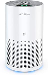 Airthereal Air Purifier with True HEPA for Home Desktop and Car - Auto Control plus Air Quality Monitor - Removes Allergies, Dust, Pollen, Smoke, Odor and More - Day Dawning ADH80 47 CFM