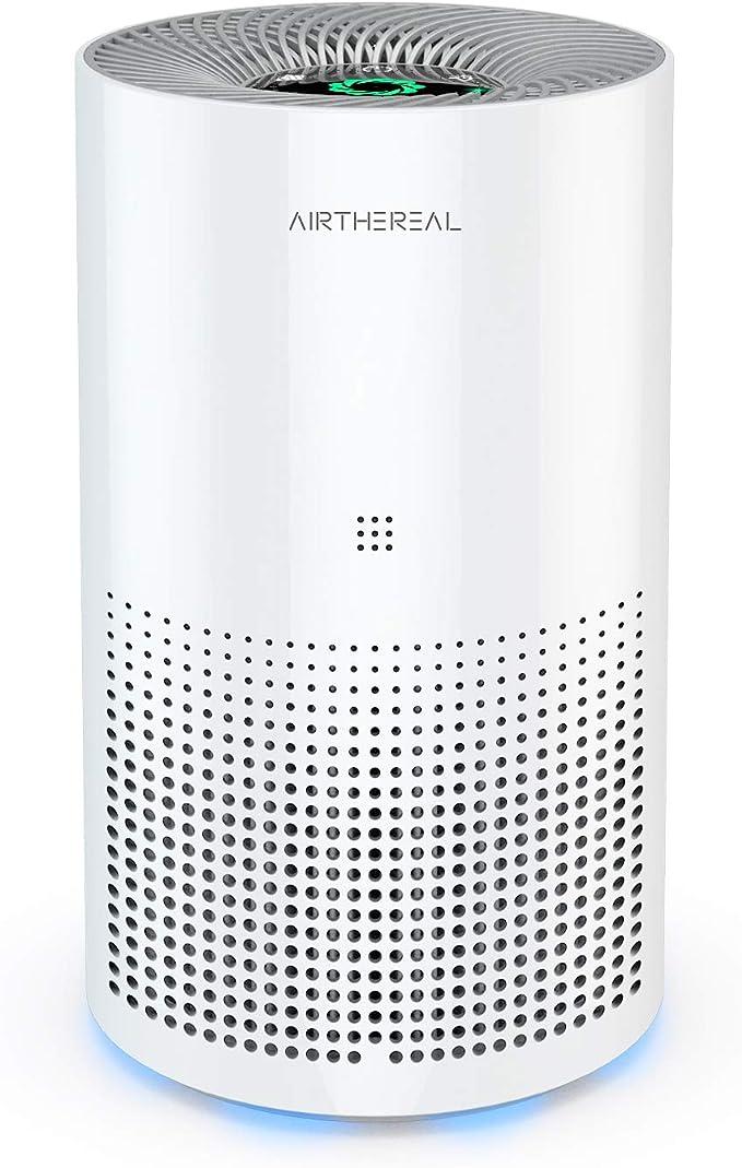 Airthereal purificador de Aire con 7 en 1 True HEPA para Escritorio y Coche – Control automático más Control de Calidad de Aire – Elimina el Polvo, Polen, Humo, Olor y más –