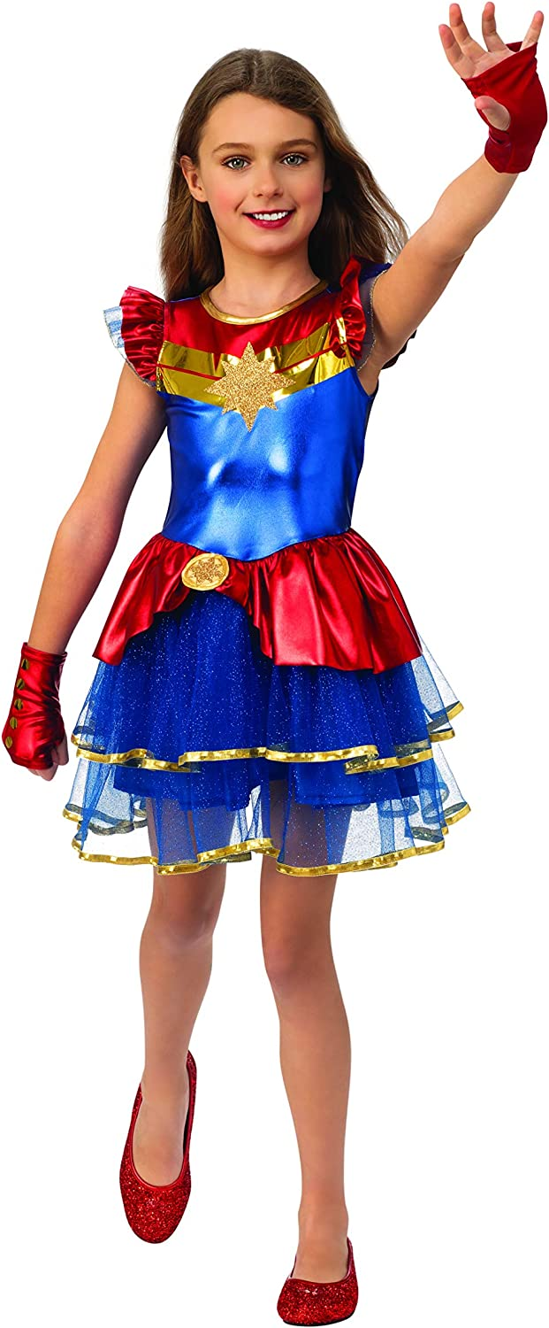 Amazon Com Captain Marvel Costume For Girls With Tutu Skirt And Gloves Kids Marvel Costumes Clothing Get your courageous youngster ready for epic adventures as one of the universe's most powerful heroes in this awesome costume inspired by the forthcoming blockbuster, marvel's captain you may experience issues while visiting marvel shop with your current web browser version/configuration. captain marvel costume for girls with tutu skirt and gloves kids marvel costumes