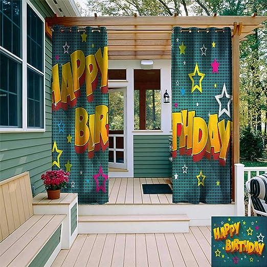 leinuoyi - Cortina para cumpleaños o Exteriores, diseño de ...