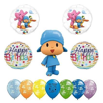 Amazon.com: Pocoyo Feliz cumpleaños globo Kit para decorar ...