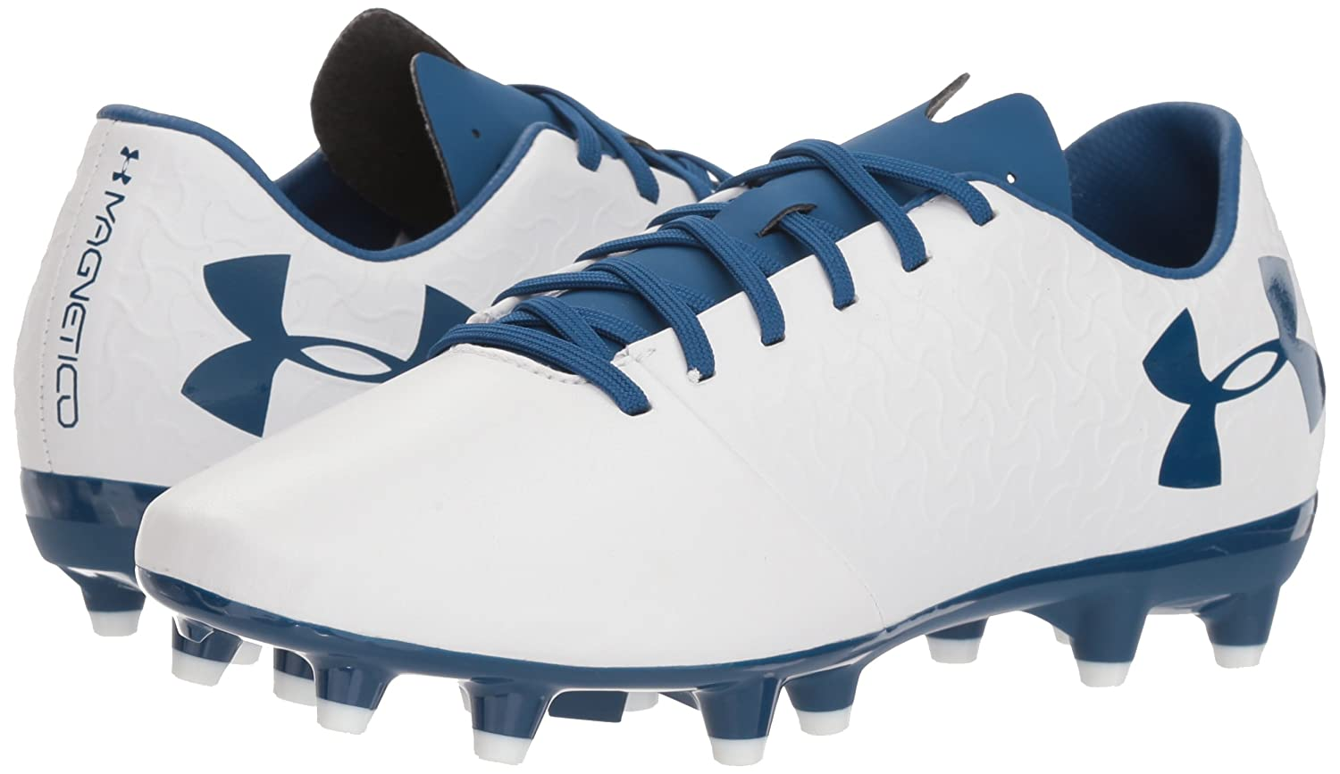Under Armour Womens Magnetico Select Firm Ground Soccer Shoe White//Moroccan Blue