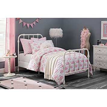 dhp jenny lind metal twin bed in white - Metal Frame Twin Bed