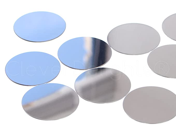 50 Pack CleverDelights 1.5 Round Aluminum Stamping Blanks .039 18 Gauge Shiny Anodized Finish