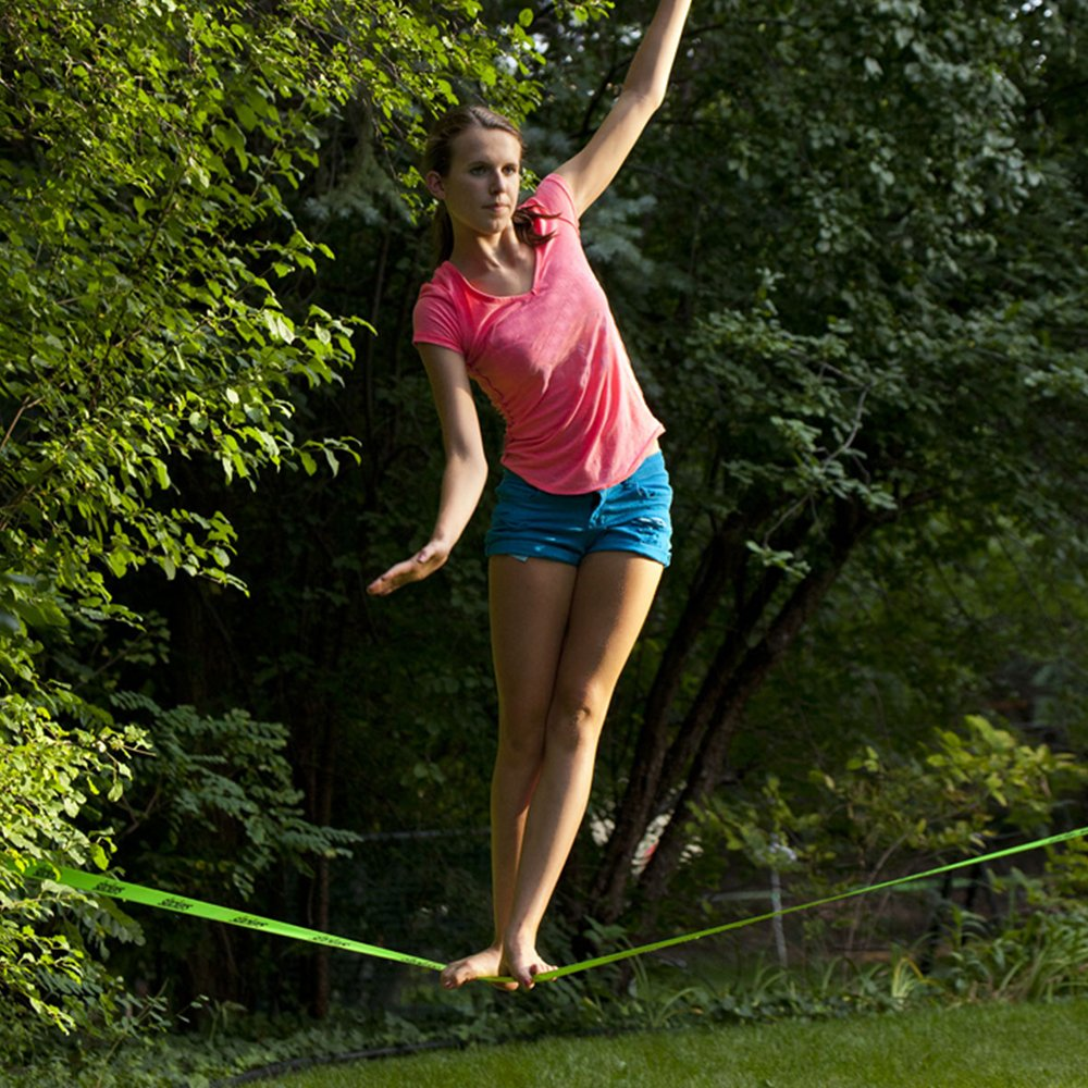 slackers 50-Feet Slackline Classic Set with Bonus Teaching Line