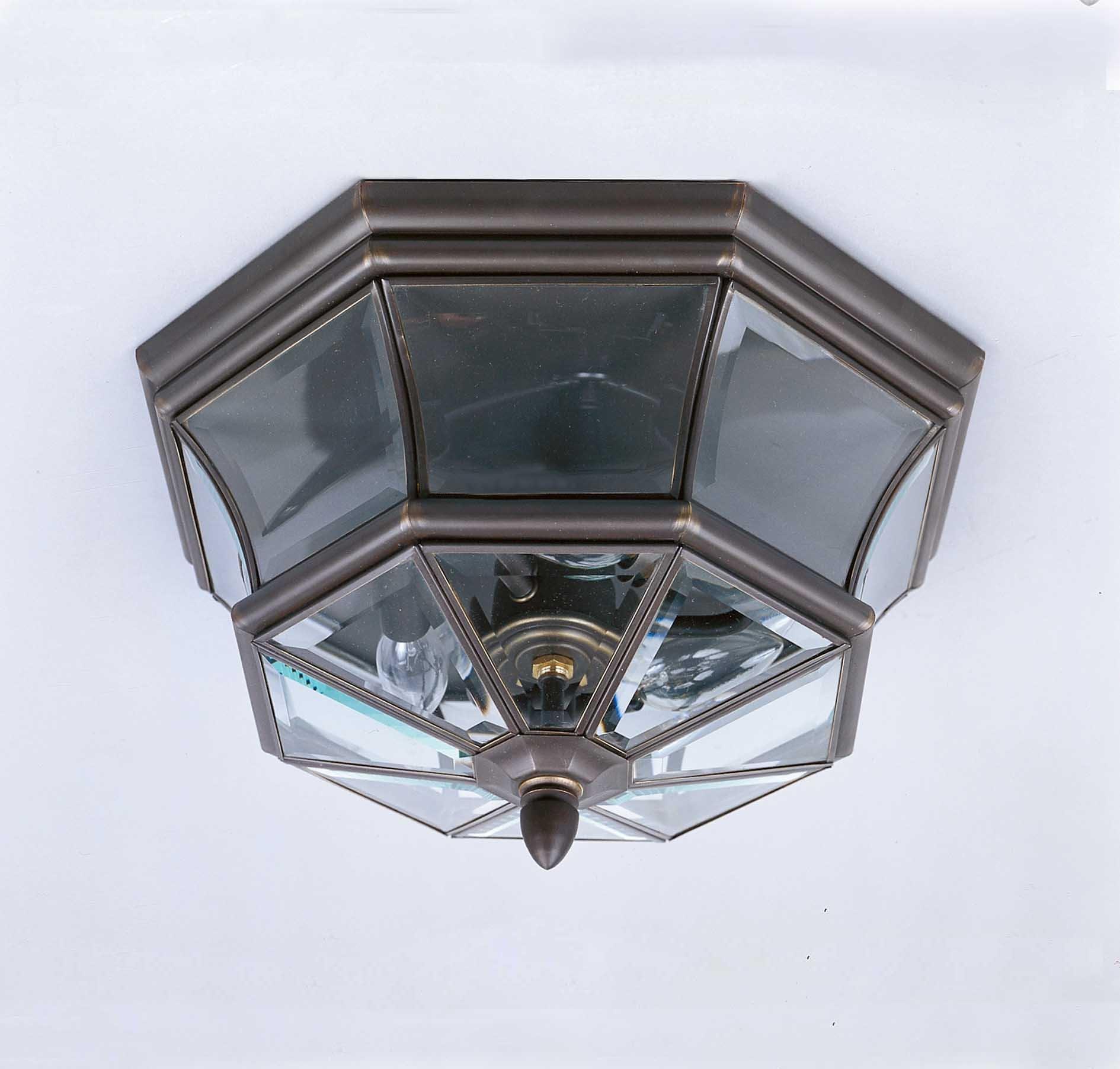 Quoizel NY1794Z 3-Light Newbury Outdoor Lantern in Medici Bronze