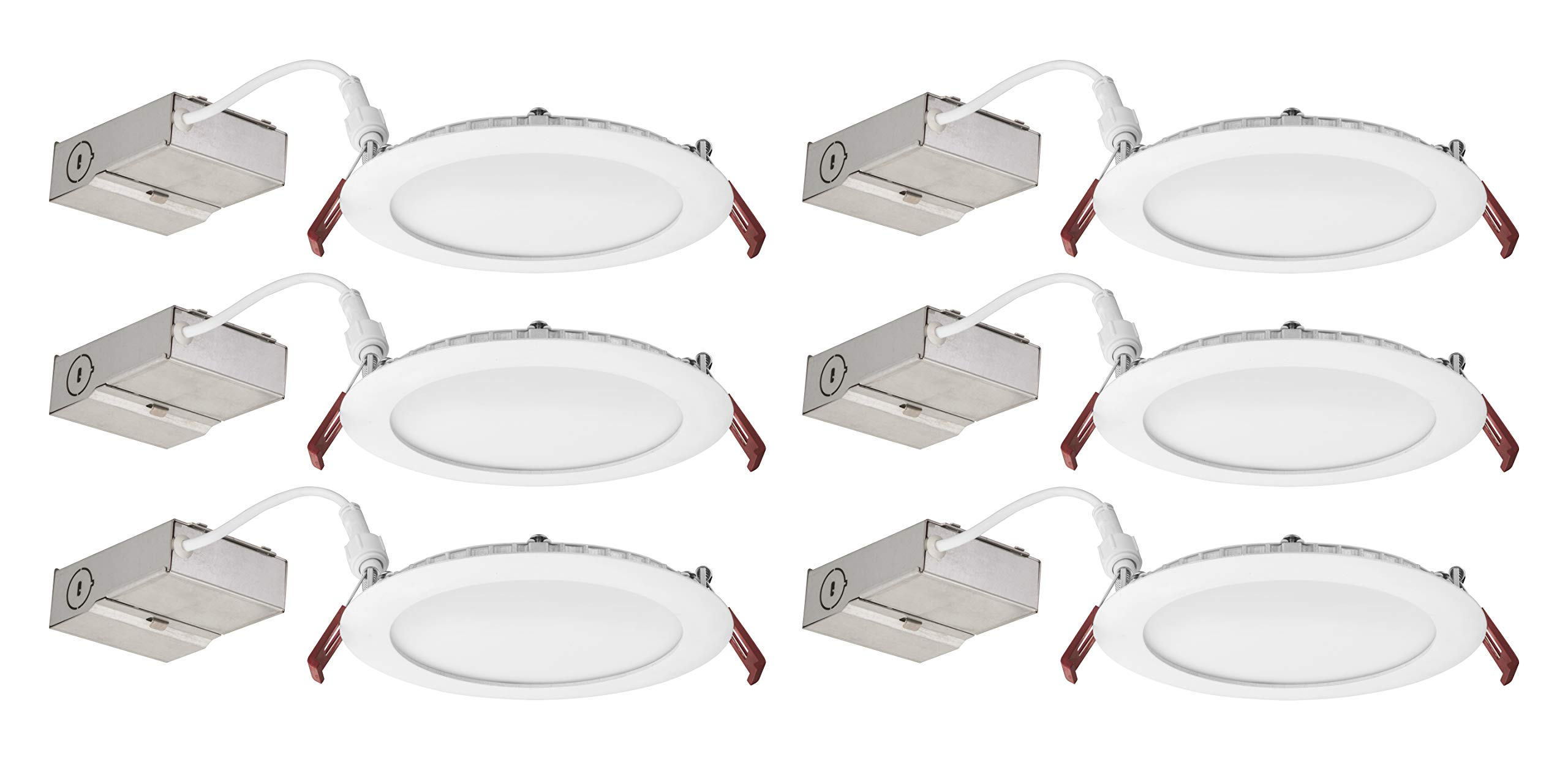 Lithonia Lighting WF6 LED 30K 80CRI MW CASEPACK6 Recessed Light 6 Inch White