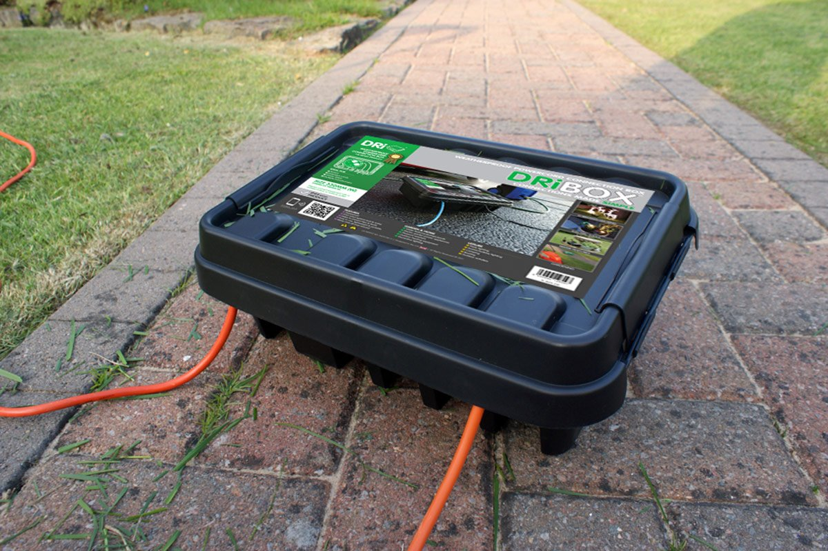 Dri-box 330 Outdoor Waterproof/Weatherproof Box- Black MCM FL-1859-330