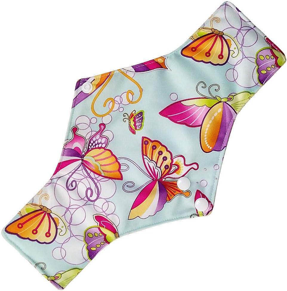 IGEMY Reusable Sanitary Pads,Menstrual Panty Pad,Washable Cloth Menstrual Pads Reusable Bamboo Cloth Washable Menstrual Pad Mama Sanitary Towel Pad A