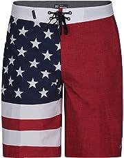 "Hurley Apparel Men's Phantom Cheers USA Flag 20"" Boardshort Swimwear"