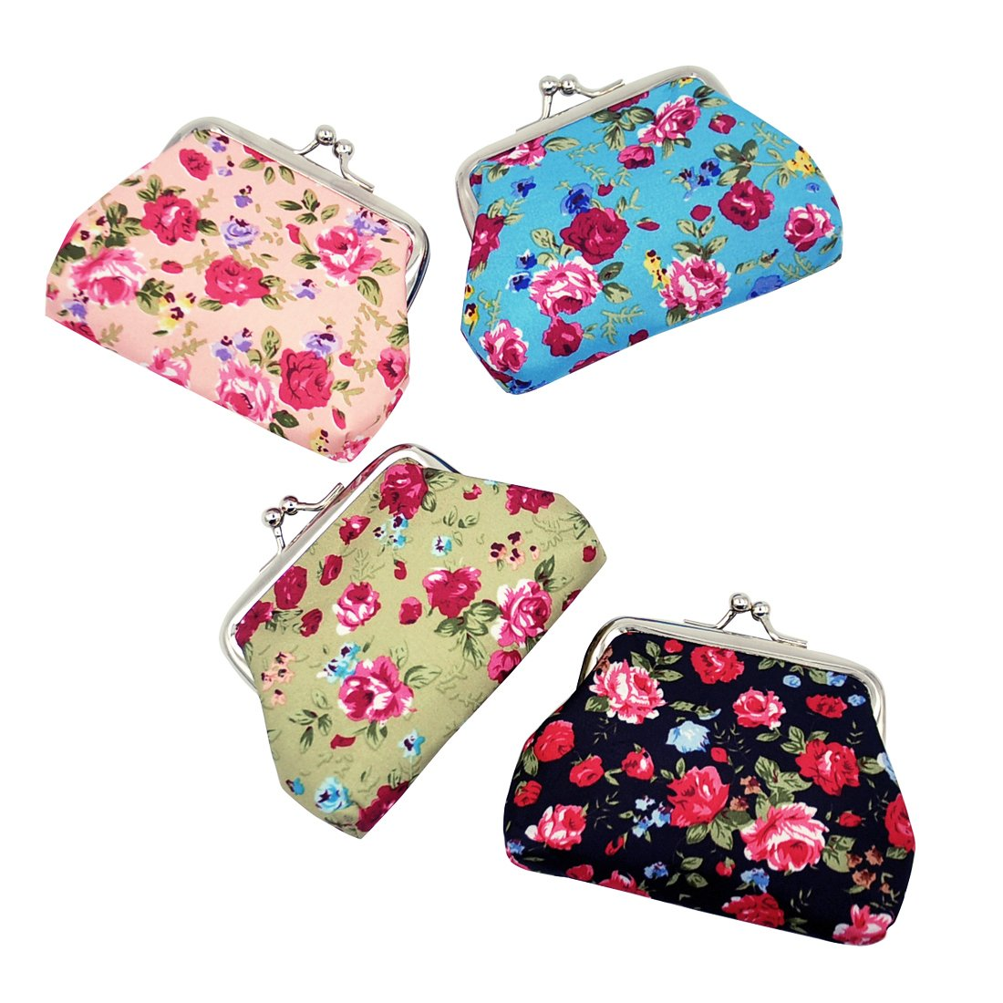 Oyachic 4 Packs Coin Purse with Clasp Kisslock Change Pouch Small Coin Wallet Gift for Women Girls 3.5 L X 2.8 H coin pouch