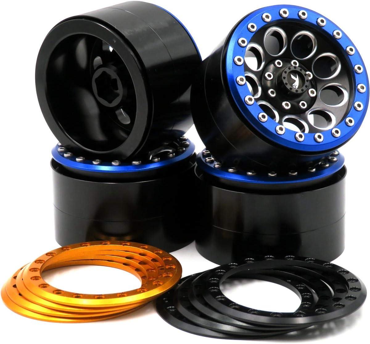 2pcs RC Aluminium Force 2.2 beadlock wheels Rims Fit RC Crawler 2.2 Tires Tyres