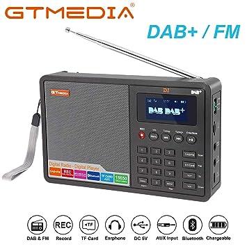 GT AUDIO D1 Dab/Dab+ / FM Radio Digital Portátil RDS ...