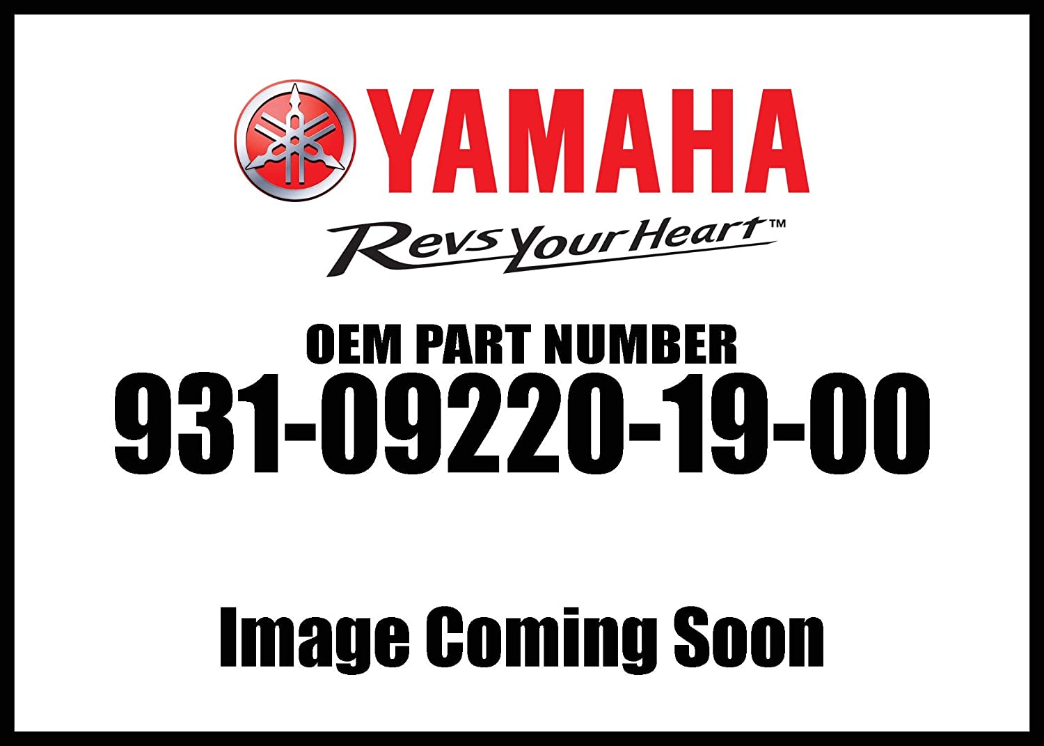 Yamaha 93109-22019-00 Oil Seal, Sdo-Type; 931092201900 Made by Yamaha