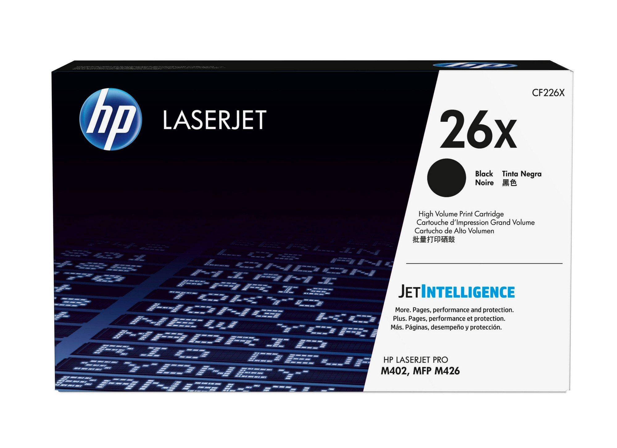 HP 26X (CF226X) Black High Yield Original Toner Cartridge for HP LaserJet Pro M402 M426