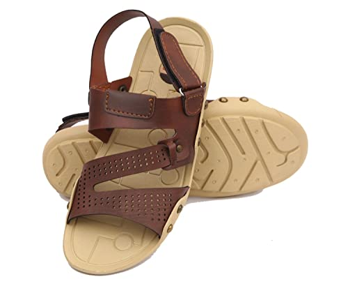 e707f5ae1013 Nexa Men s Brown Floater Sandal(10)  Buy Online at Low Prices in ...