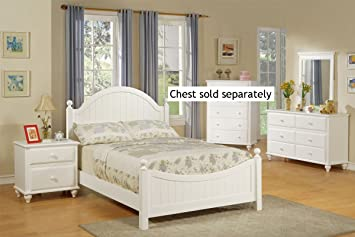 Amazon.com: 4pcs Full Size Bedroom Set - Cape Cod Style White ...
