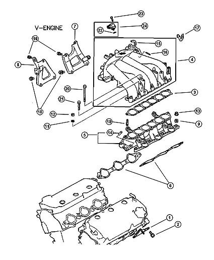 Amazon Com Mopar Md199282 Fuel Injection Plenum Gasket Automotive