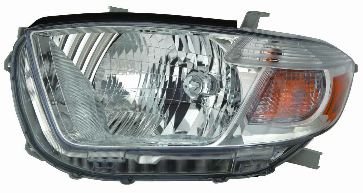 Depo 312-11A5R-AS1 Toyota Highlander Passenger Side Composite Headlamp Assembly with Bulb and Socket