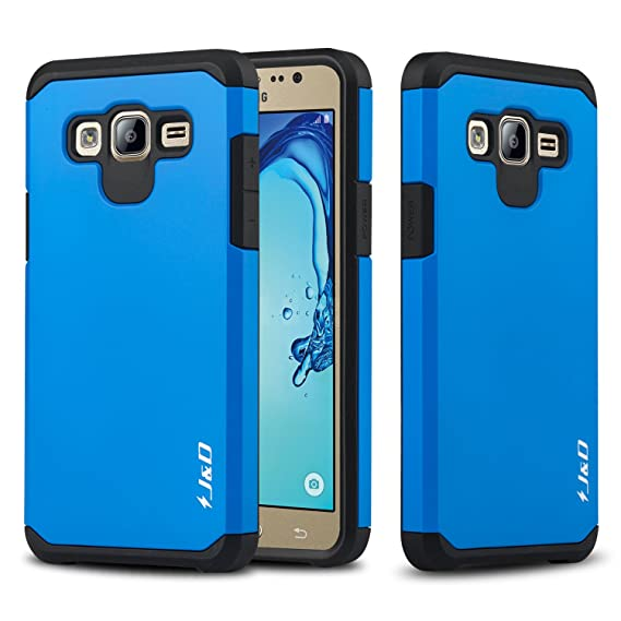 watch af478 956e2 J&D Case Compatible for Galaxy On5 Case, Heavy Duty [Dual Layer] Hybrid  Shock Proof Protective Rugged Bumper Case for Samsung Galaxy On5 Case - Blue