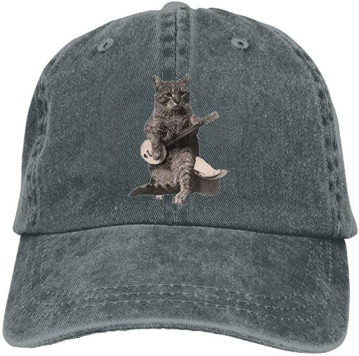 71ddbdd2014 Cat Playing Banjo Guitar Adult Cowboy Hat Baseball Cap Adjustable Athletic  Custom Latest Hat for Men and Women  Amazon.co.uk  Clothing