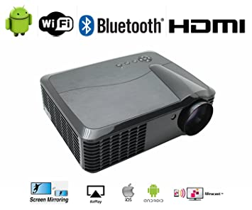 Proyector WiFi Android 1080P Full Hd admite 4 K 4500 lúmenes ...