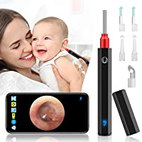 Urbesty Earwax Removal Tool,Wireless Otoscope Ear Wax Removal Kit 1080P HD WiFi Ear Endoscope Camera with LED Lights,3.5mm Visual Ear Camera Portable Ear Cleaning Camera Kit for Adults Kids Pets