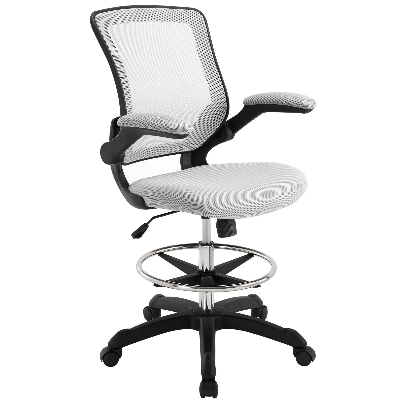 Details about Modway Drafting Stool Chair Seat Gray Home Office Furniture  41 x 41 x 41.41 New
