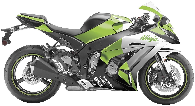 Factory Effex 15-15112-G EV-R Series OEM Green Color Complete Street Bike Graphic Kit for Kawasaki Ninja 650