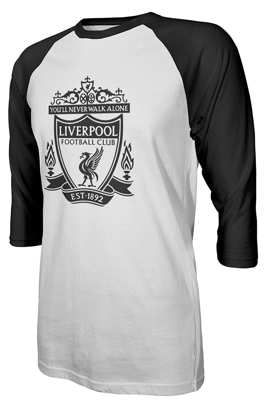 7d92b07479f Amazon.com  Tcamp Liverpool  11 Mohamed SALAH Premier League Men s Quarter  Sleeve Raglan T-Shirt  Sports   Outdoors