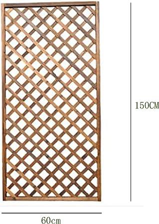 LIANGJING Rejilla barandilla Valla Valla de Madera Patio decoración jardín al Aire Libre anticorrosión Exterior Valla partición Escalada ratán Madera Estante de Flores,long60,L: Amazon.es: Hogar