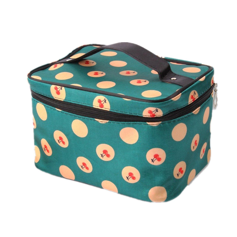Txian Ladies Tidy Travel Cosmetic Bag Toiletry Bag Make-up Bag Hand Case Bag Large Capacity Lovely Pattern Printing Zipper Bag 1260