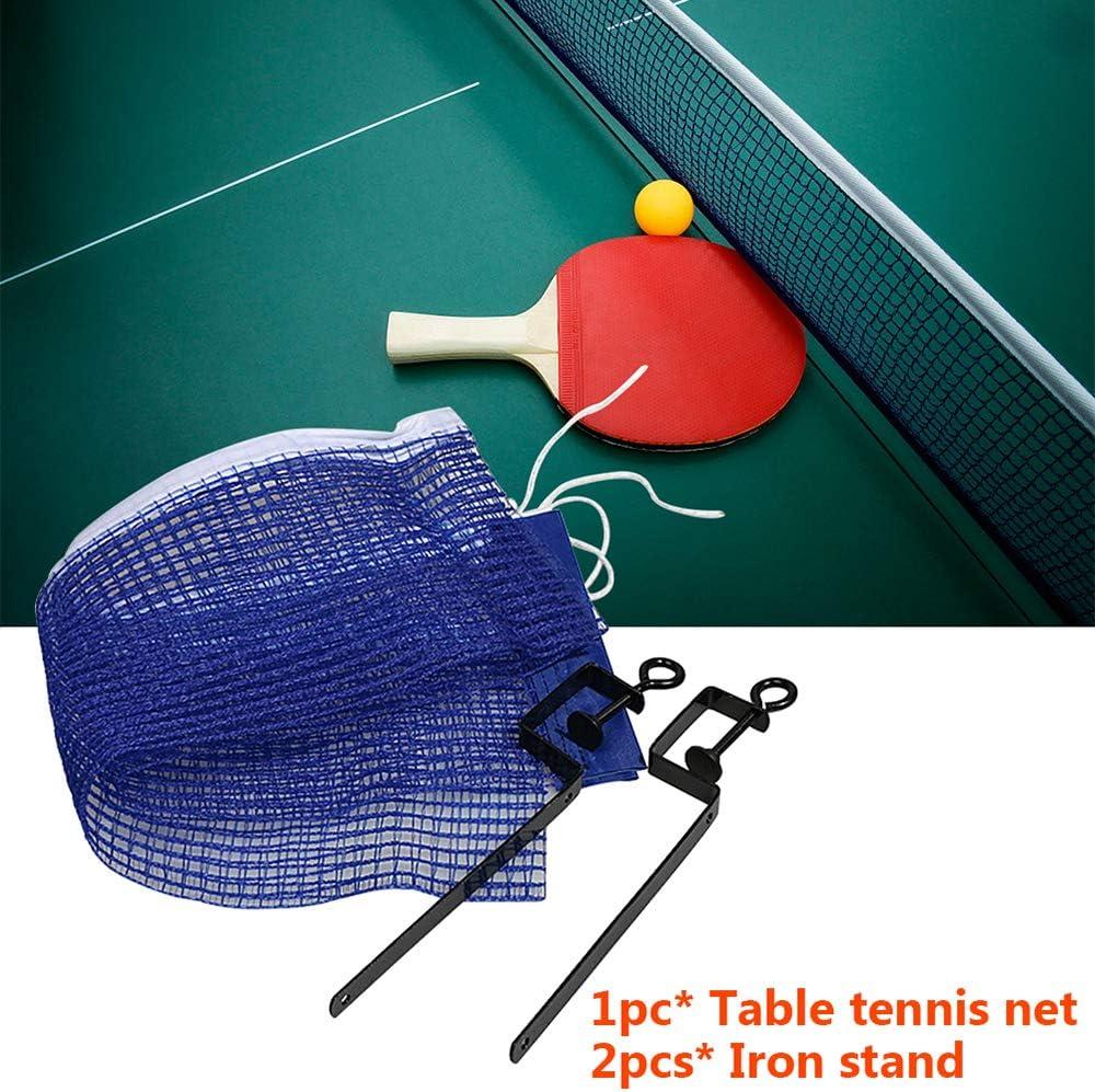 MZY1188 Juego de Red de Tenis de Mesa de reemplazo Plegable, Suministros de Entretenimiento Deportivo de Malla de Tenis de Mesa con Soporte de Hierro portátil al Aire Libre 2