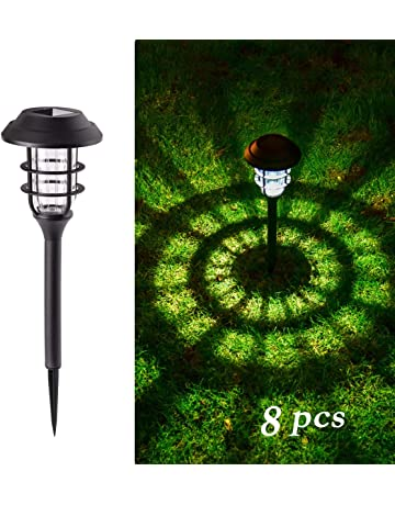GIGALUMI 8 Pcs Solar Lights Outdoor Pathway, Waterproof Led Solar Lights  For Lawn、Patio