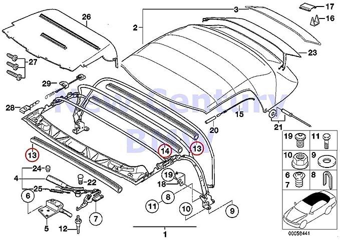 amazon genuine bmw z3 roadster folding top chain tensioner oem BMW Z3 Body amazon genuine bmw z3 roadster folding top chain tensioner oem 54318399485 automotive