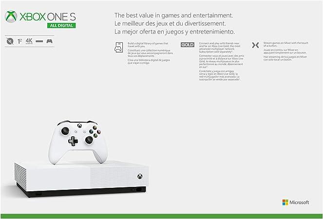 Microsoft Xbox One S - Consola de 1 TB con Mando inalámbrico Xbox ...
