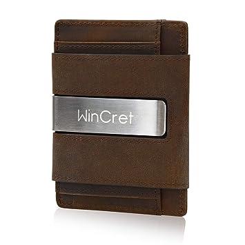 Geldbeutel Herren | Kreditkartenetui mit Geldklammer | RFID Schutz und Münzfach