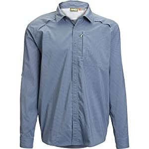 Howler Bros Arroyo Tech Shirt - Men's Azul Microcheck, S