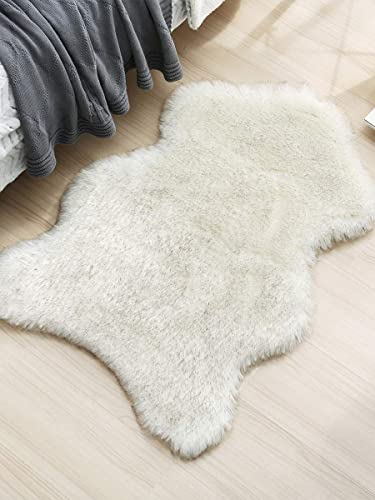 Faux Sheepskin Fur Area Rug Fluffy Rugs Ultra Soft Floor Carpet