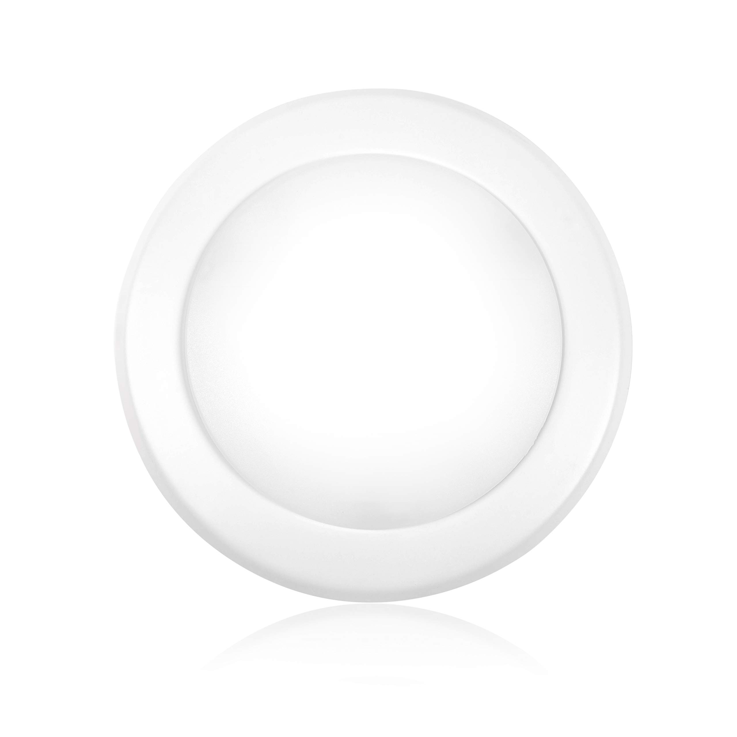 """Parmida (1 Pack) 5/6"""" Dimmable LED Disk Light Flush Mount Recessed Retrofit Ceiling Lights, 15W (120W Replacement), 5000K (Day Light), Energy Star, Installs into Junction Box Or Recessed Can, 1050lm"""