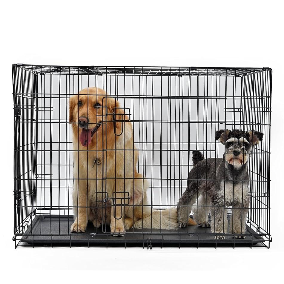 心理学大洪水乏しいPAWZ Road ケージ サークル コンパクト 折り畳み 中型犬 大型犬 2XL