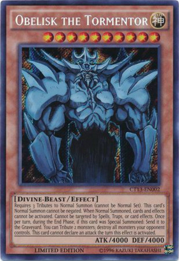 Yu-Gi-Oh! - Obelisk the Tormentor (CT13-EN002) - 2016 Mega-Tins - Limited Edition - Secret Rare