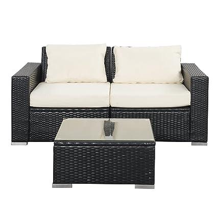 Terrific Amazon Com Wonlink Patio White Wicker Rattan Furniture Unemploymentrelief Wooden Chair Designs For Living Room Unemploymentrelieforg