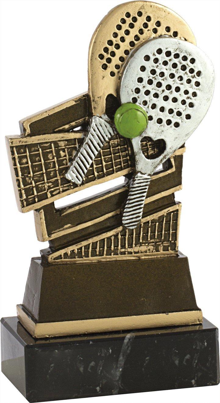 Art-Trophies TP444 Trofeo Doble Raqueta de Pádel, Dorado, Talla ...