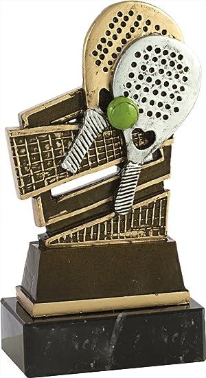 Art-Trophies TP444 Trofeo Doble Raqueta de Pádel, Dorado, Talla Única: Amazon.es: Deportes y aire libre